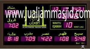 jual jam jadwal sholat digital masjid murah di tangerang selatan