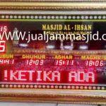 jual jam jadwal sholat digital masjid running text di condet jakarta