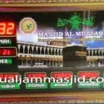 jual jam jadwal sholat digital masjid running text di darmais jakarta