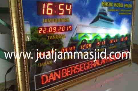 jual jam jadwal sholat digital masjid running text di grogol jakarta