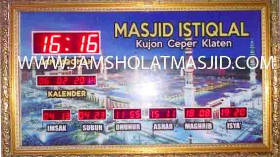 jual jam jadwal sholat digital masjid running text di pasar minggu jakarta