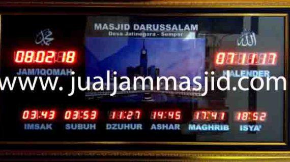 jual jam jadwal sholat digital masjid running text di ragunan jakarta