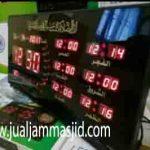 jual jam jadwal sholat digital masjid running text bandung timur jawa barat