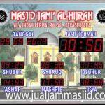 jual jam jadwal sholat digital masjid running text di kabupaten tangerang
