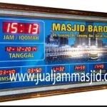 jual jam jadwal sholat digital masjid running text di kelapa gading
