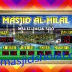 jual jam jadwal sholat digital masjid running text di pulau harapan jakarta