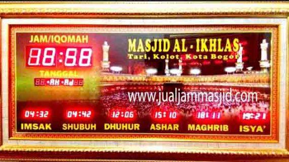 jual jam jadwal sholat digital masjid running text indramayu jawa barat