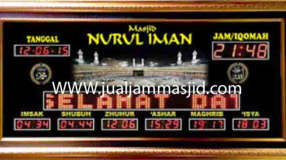 penjual jam jadwal sholat digital masjid running text di depok utara
