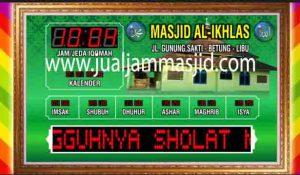 penjual jam jadwal sholat digital masjid running text di cibitung barat