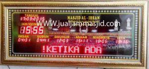 penjual jam jadwal sholat digital masjid running text di cibitung utara