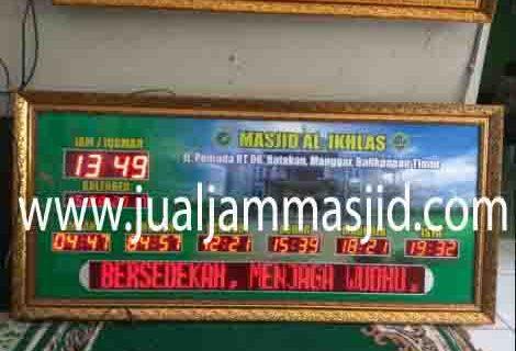 penjual jam jadwal sholat digital masjid running text di karawang barat