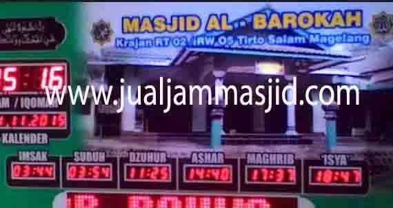 penjual jam jadwal sholat digital masjid running text di karawang utara