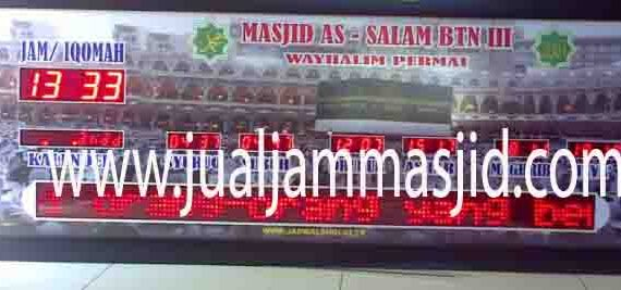 penjual jam jadwal sholat digital masjid running text di Ciketing Udik bekasi