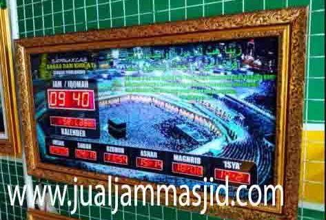 penjual jam jadwal sholat digital masjid running text di balikpapan selatan
