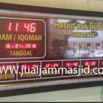penjual jam jadwal sholat digital masjid running text di balikpapan timur