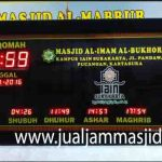 penjual jam jadwal sholat digital masjid running text di bekasi barat
