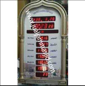 penjual jam jadwal sholat digital masjid running text di Duren Jaya bekasi