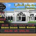 penjual jam jadwal sholat digital masjid running text di Jatikramat bekasi