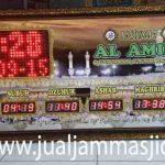 penjual jam jadwal sholat digital masjid running text di Marga Mulya bekasi