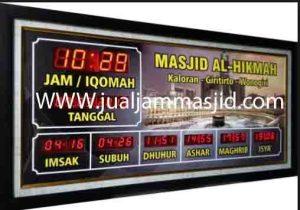 penjual jam jadwal sholat digital masjid running text di Jaticempaka bekasi