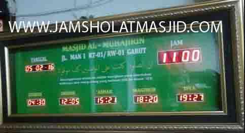jual jam dinding digital untuk masjid di bogor pusat