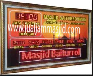 jual jam dinding digital untuk masjid di jakarta pusat