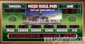 menjual jam jadwal sholat digital masjid running text di pekanbaru selatan