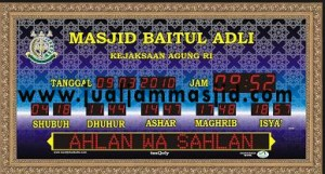 jam digital sholat masjid di cakung
