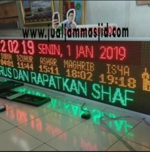 jual jam digial masjid running text di bekasi barat