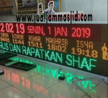 menjual jam jadwal sholat digital masjid di Ciketing Udik Bekasi