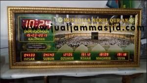 menjual jam jadwal sholat digital masjid running text di cibitung barat
