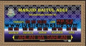 menjual jam jadwal sholat digital masjid running text di Pekayon Jaya Bekasi