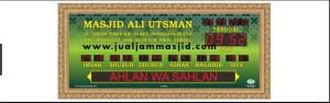 menjual jam jadwal sholat digital masjid running text di Bintara Jaya Bekasi