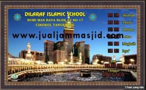 menjual jam jadwal sholat digital masjid running text di Kaliabang Tengah Bekasi