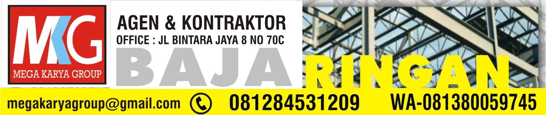 harga baja ringan bekas kontraktor toko distributor agen supplier rangka konstruksi