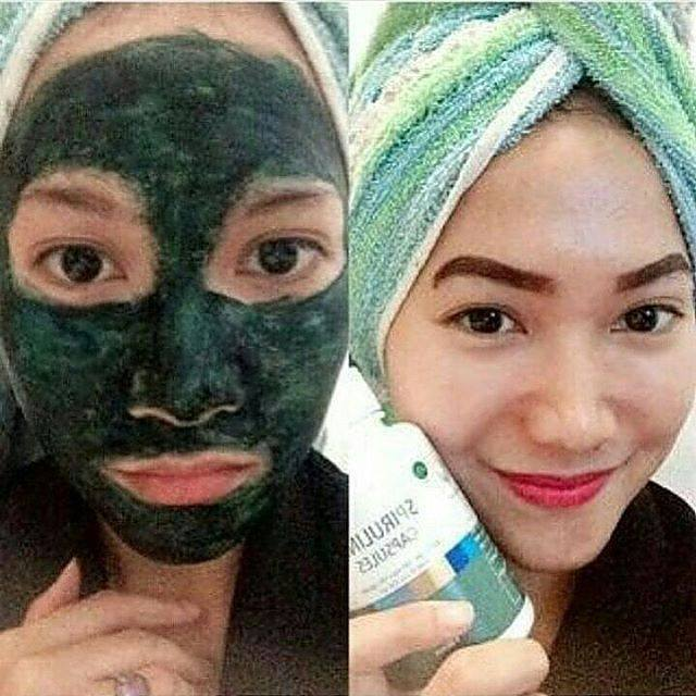 Jual Masker herbal Spirulina TIENS herbal Sigi Biromaru