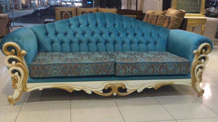 red sofa cafe baku bed bad credit mewah biru - jual mebel jepara