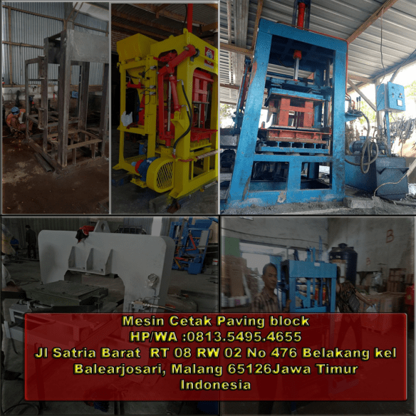 jual mesin paving block di Serui