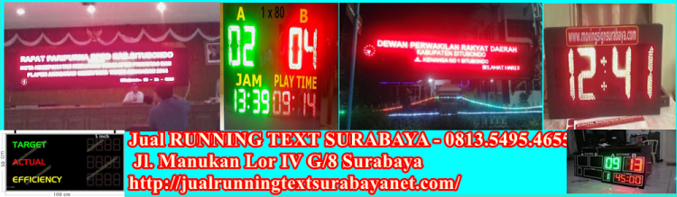 Jual Running text di pasuruan