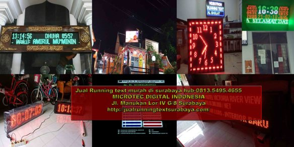 Jual running text di Gorontalo