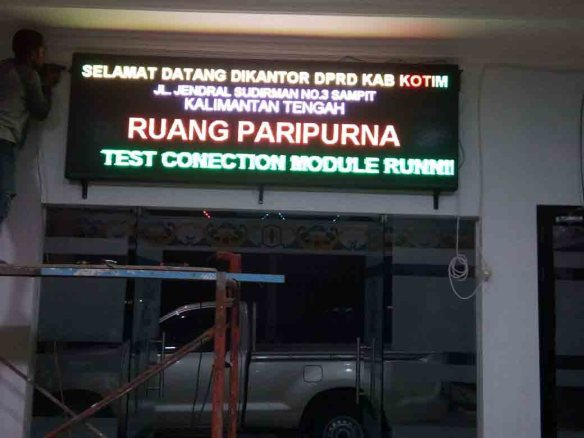 Jual runing text lombok utara