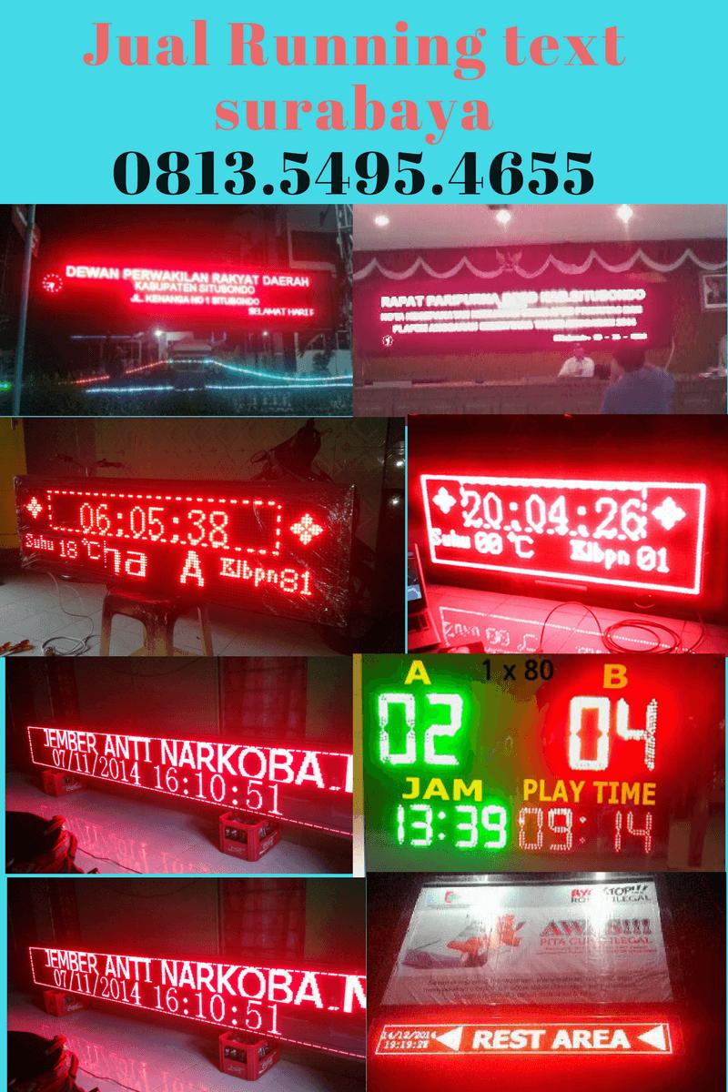 Jual Running text Gorontalo utara II Jadwal sholat 0813.5495.4655