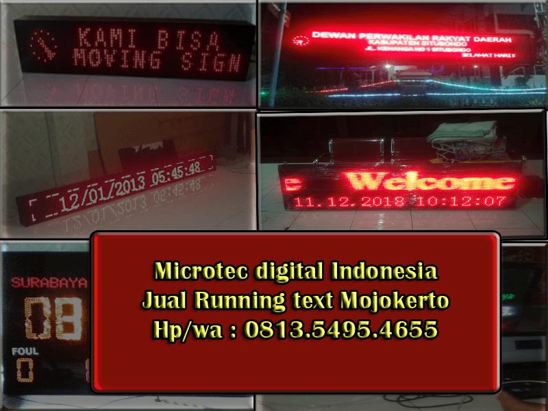 Jual running text Mojokerto – 0813.5495.4655