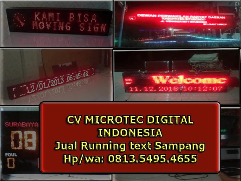 Jual Running text Sampang II Jadwal sholat 0813.5495.4655