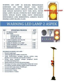 WARNING LED LAMP 2 ASPEK