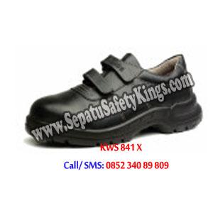KWS 841 X Sepatu KINGS Safety Shoes Murah Perekat Velcro