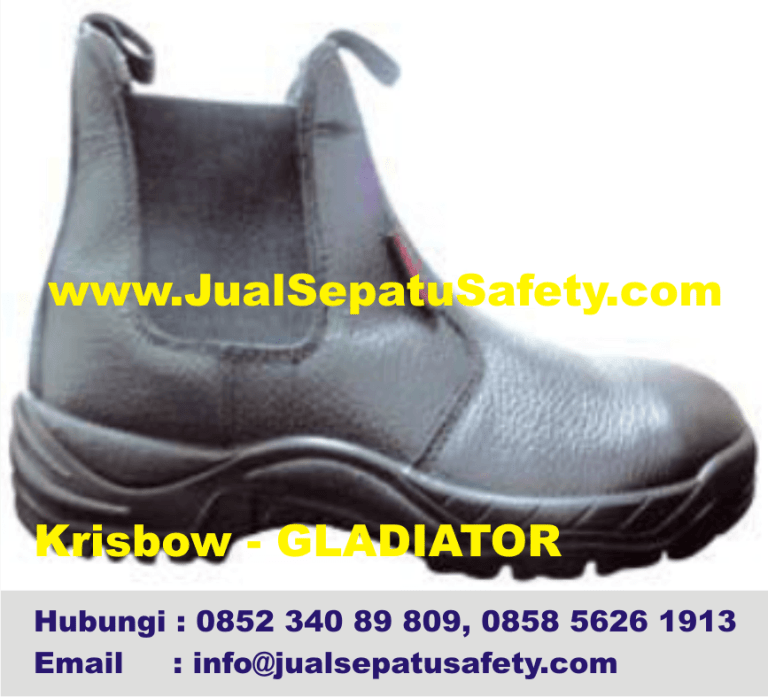 Krisbow Gladiator-Jual Safety Shoes K3 Elastis Tanpa Tali,HP.0852 340 89 809