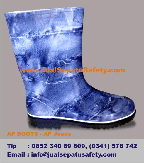 Harga Sepatu AP BOOTS Kids - AP Motif Jeans