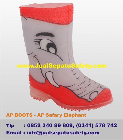 Sepatu AP BOOTS ANAK - AP Safary Elephant Gambar GAJAH