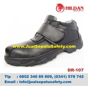 DR 107 - Sepatu Safety Kulit MURAH, HP.0852 340 89 809